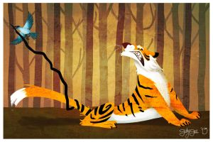 The tiger that got his stripes stolen by GabbyGee
