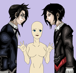 Claude vs Sebby for your love BASE by AngelKiller666