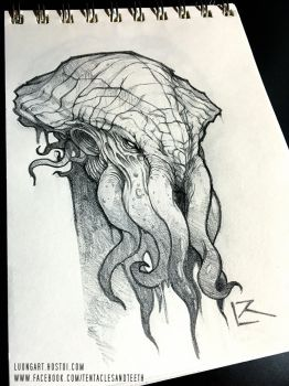 Cthulhu Sketch by TentaclesandTeeth