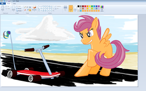 let s drive  Scootaloo by sallycars