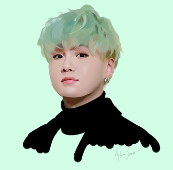 Mint Yoongi by meatloafsoggy