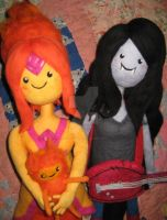 Needle Felted Marci and Flame Princess Plushies by CatsFeltLings