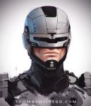 Robocop Sketch by thomaswievegg