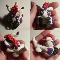 Gomamon Sculpture by ChibiSilverWings