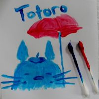 Painted Totoro by TimelessForever