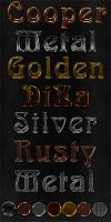 Photoshop Metal styles by DiZa-74