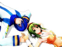 Kaito and Gumi by Haleylamperouge