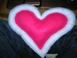 Heart container pillow by HeyThereISeeYou