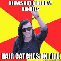 Skrillex is on fire by RebeccaJonesArt