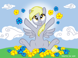DERPY AMONG THE FLOWERS by Tim-Kangaroo