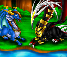 Friends at the Lake :CM: by Seeraphine