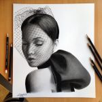 Jennifer Lawrence Pencil / Charcoal Drawing by AtomiccircuS