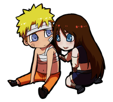 PC: Ayame and Naruto by DaemonB4