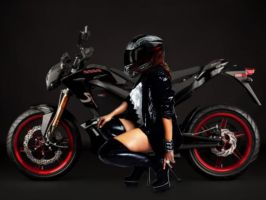 ZERO S Electric Motorcycle 2012 Olivia Wallpaper by JDimensions27