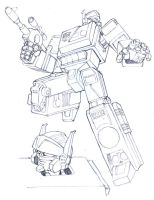 G1 Blaster pencils by M3Gr1ml0ck