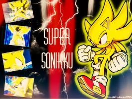Super Sonic Collage - Wallpaper by DeathGoddess1995