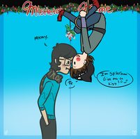 mistletoe meme: SPIDERMAN!! by Ask-Olive-And-Oliver