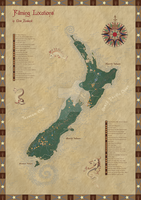 New Zealand filming locations map by Starsong-Studio