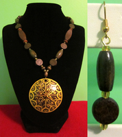 Brown - Gold Wooden Set by BloodRed-Orchid