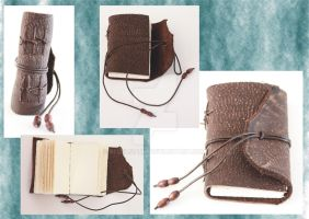 Medieval Limp Binding - Mini Brown Journal by Bluelisamh
