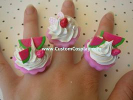 Big melon cookie parfait rings by The-Cute-Storm