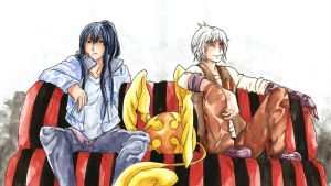 DGM: Kanda Tim and Allen by BlackMayo