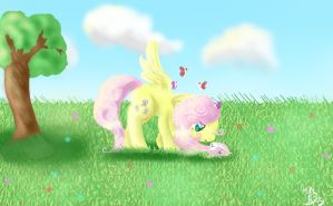 Fluttershy Spring by TeenBeat