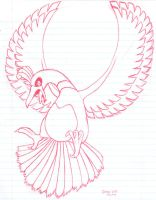 Ho-oh doodle by stardroidjean