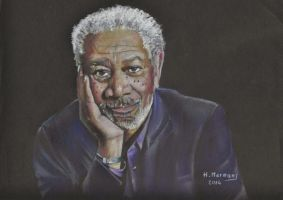 Morgan Freeman by HendrikHermans