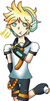Art Trade - Len Kagamine by TheYamiClaxia