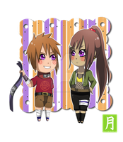 Chibi Akimichi Akito and Aimi by WarriorAngel36