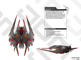 Azmedaj space superiority interceptor blueprint by Apocryphea