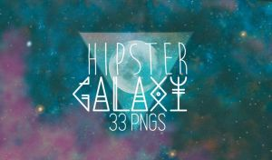 HIPSTER GALAXY PNG PACK - 33 PNGS by freechocolates