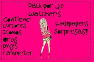 Pack Por 20 Watcher's Parte 1 by CutinaEditions