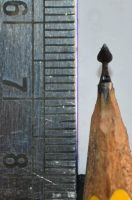 Pencil carving 3 : Little spade.. by preethi524