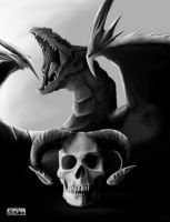Dragon and Skull by EinarIIM