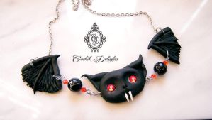 Bat Pendant by GothikDelights