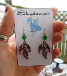 Dragon Earrings by FeynaSkydancer