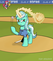 Lyra Heartstrings Pitching For Ponyville Geldings by Pony-Berserker