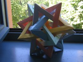 five tetrahedra origami by Melsaran