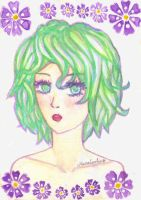 Green Violet by ManaLookie