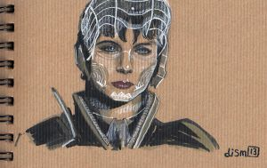 Faora Quick Sketch by didism