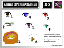 Anime Eye Reference 2 by Jemmeh