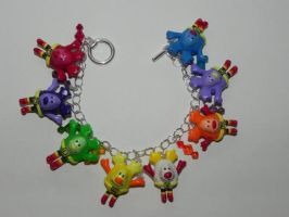 Retro 80s Cartoon Rainbow Brite Sprites Bracelet w by Secretvixen