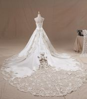 Beautiful Ivory Strapless Wedding Dresses by lindayang1122