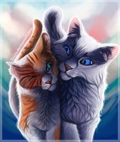 Brightheart and Cloudtail by LLoryZ