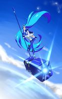Vivid Blue _ NOT VOCALOID !!!!! by rika-dono