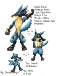 Fake pokemon: Lucario evo by BankaiAngel