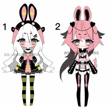 pastel goth BUNNY adoptable batch CLOSED by AS-Adoptables