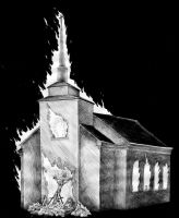 Burning Church by Saevus